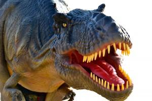 T Rex Animatronic Dinosaur white