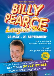 Billy Pearce 2016 A4 A5 Advert