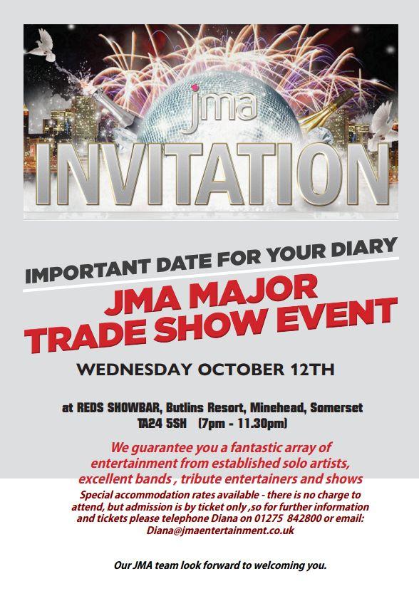 Jma Trade Show Invite Uk Cabaret
