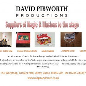 David Pibworth advert