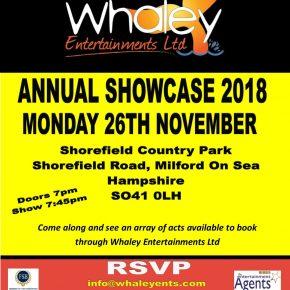 Whaley entertainments showcase